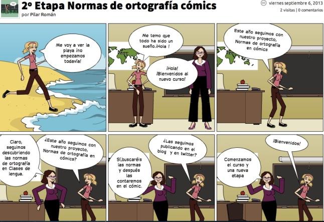 2ª etapa normas ortografía cómics