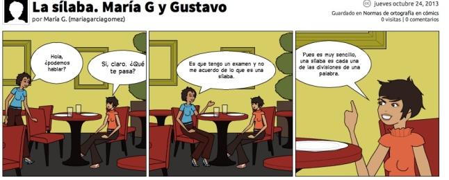 La sílaba María  y Gustavo