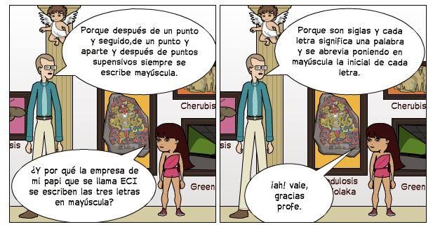 Mayúsculas (Tania  y Clara)